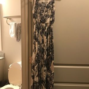 Nordstrom printed Maxi dress size XS